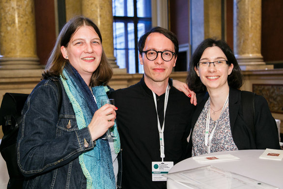 Old colleagues meet - Astrid Loidolt, Benjamin Marent and Daniela Rojatz of the former LBIHPR.