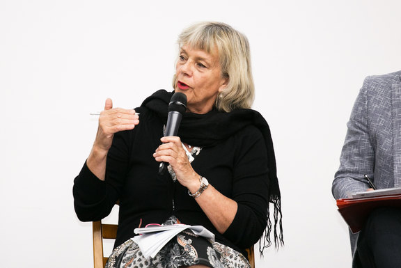 Margareta Kristenson in the panel discussion